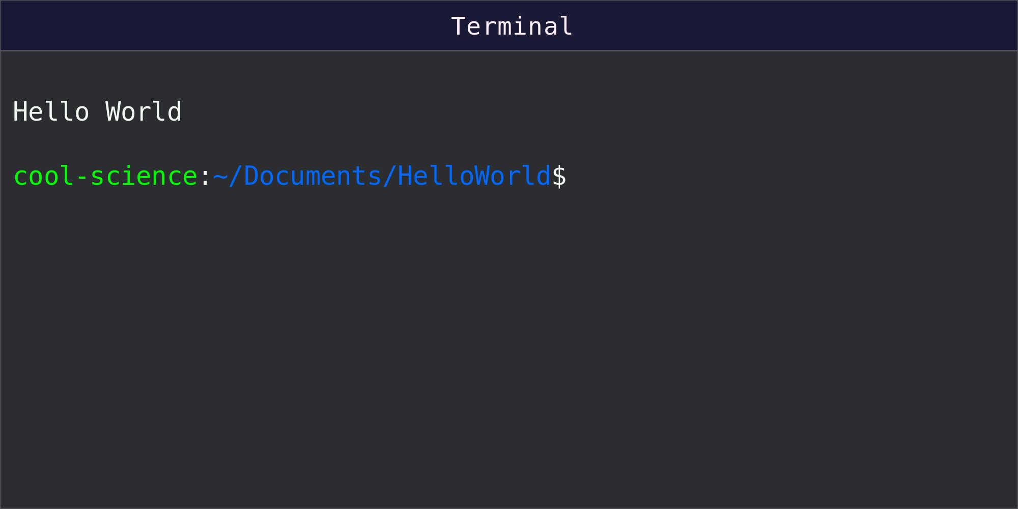 Commands and new results shown in command line terminal