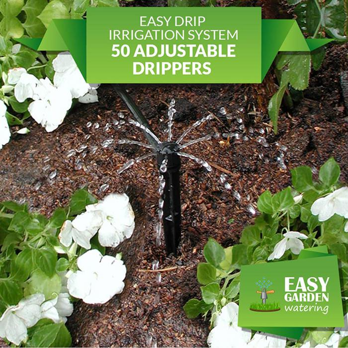 Easy Drip Irrigation System 50 Adjustable Dripper