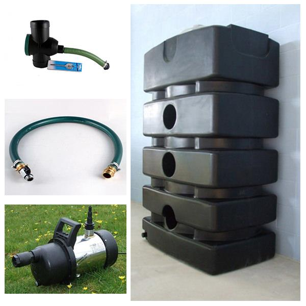 Rainwater Storage Tank Pump System 1500 Litres