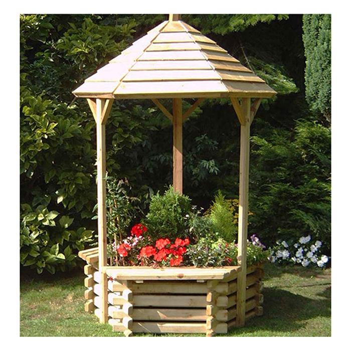 Norlog Wooden Wishing Well Planter