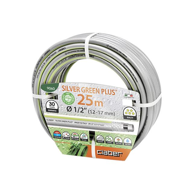 Claber Hose Pipe 25 Meter Silver Green Plus - 9060