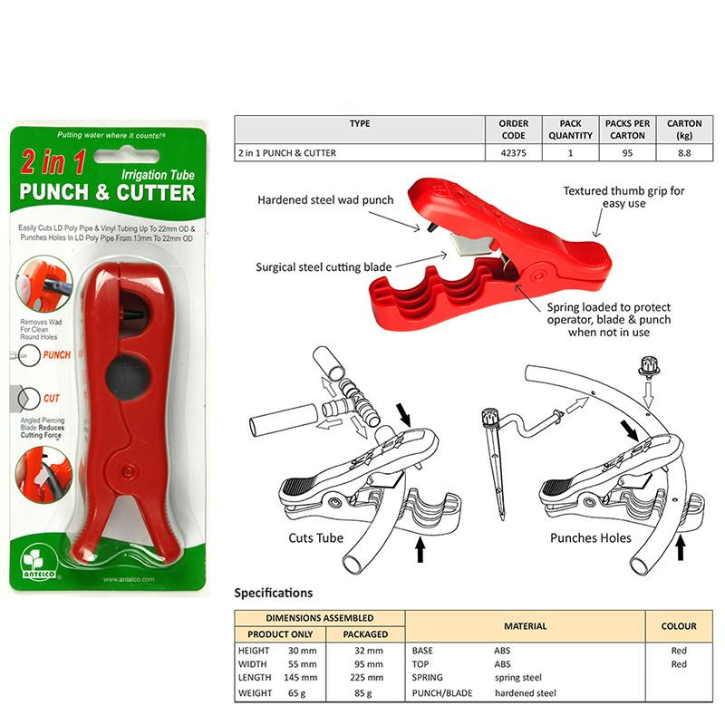 Antelco Irrigation Punch & Cutting Tool Diagram