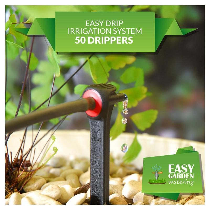 Easy Drip Irrigation System 50 Dripper Kit