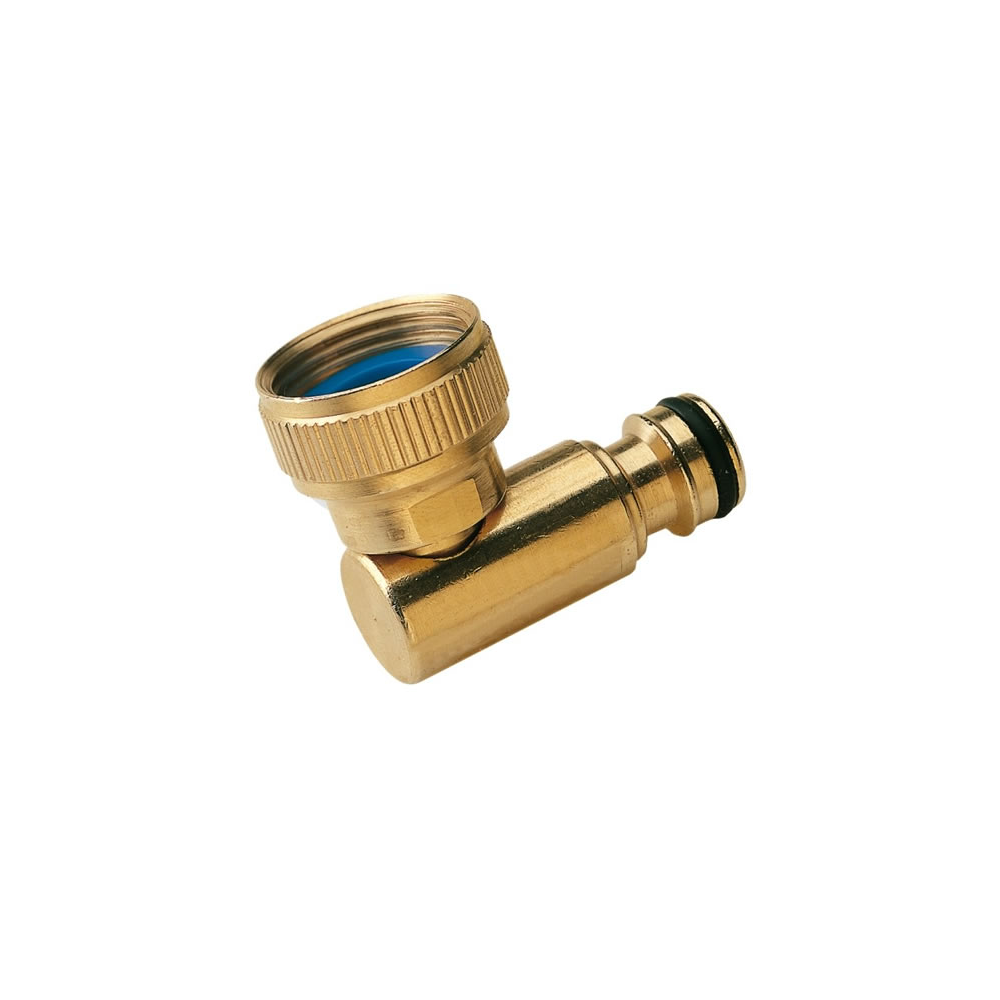 "Brass Swivel Elbow 3/4"" to 1/2"""