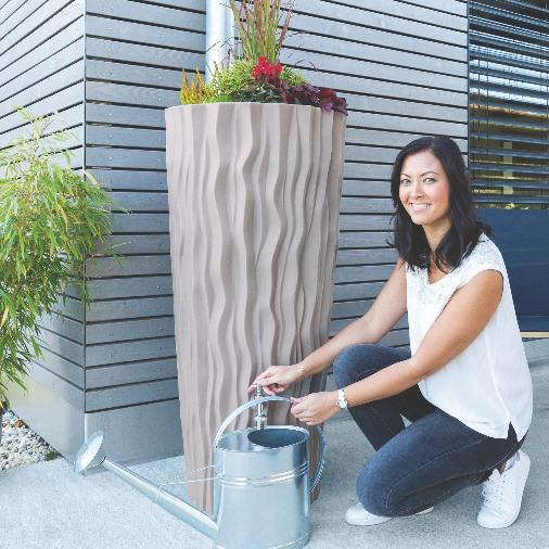 Alana Water Butt Planter - 160L Color Taupe