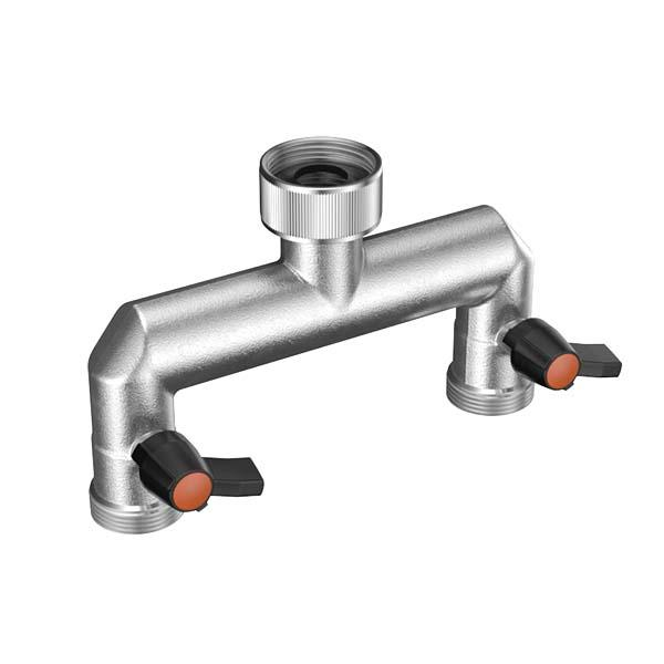 Claber Metal Jet Tap Manifold 2 Way - 9601