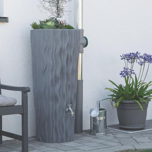 Alana Water Butt Planter - 160L Colour Grey Granite