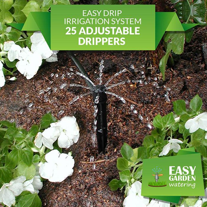 Easy Drip Irrigation System 25 Adjustable Dripper