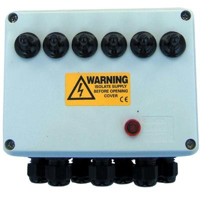 6 Way Weatherproof Electric Junction Box
