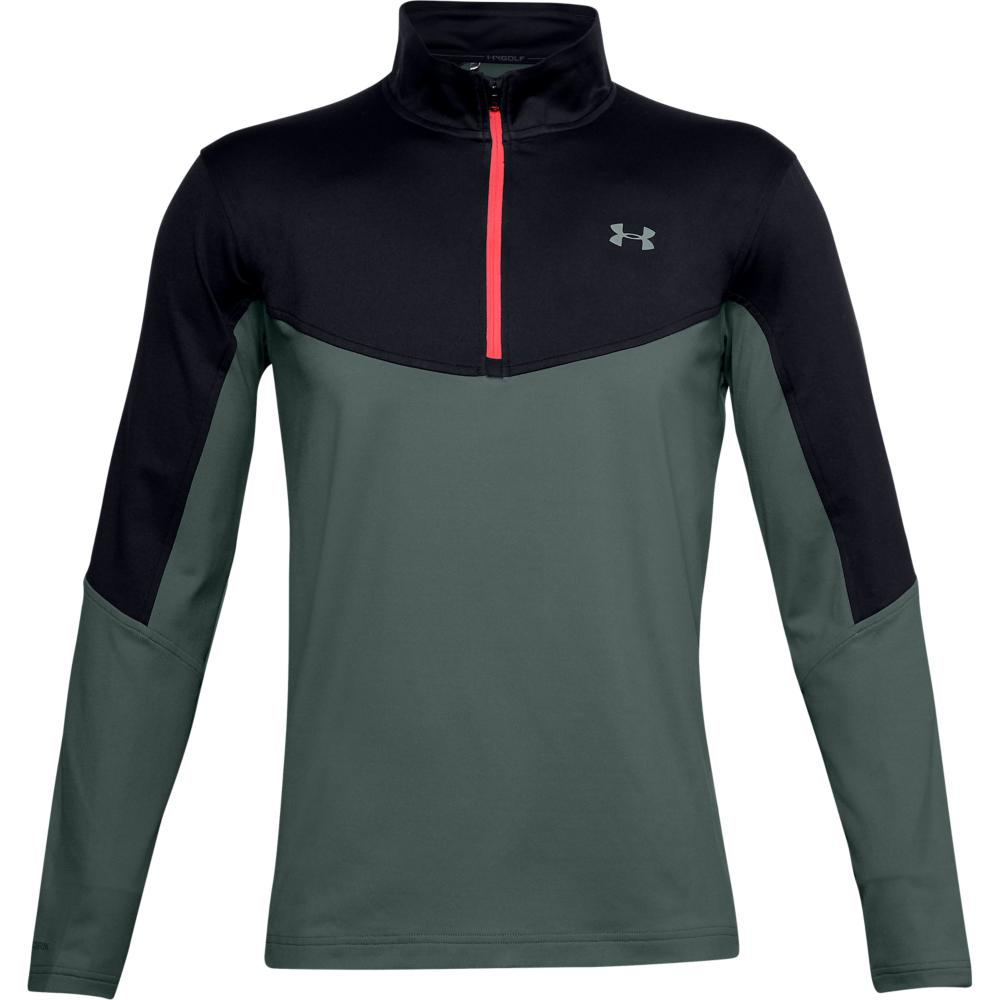 UA Storm Midlayer 1/2 Zip Lichen/Black 1355490