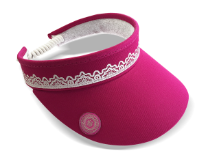 Lace Visor With Ball Marker - Pink