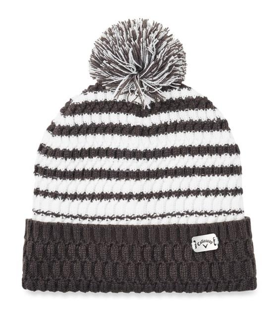 Callaway Winter Bobble Hat Grey And White