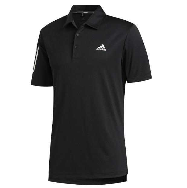 Adidas 3 Stripe Golf Shirt Black