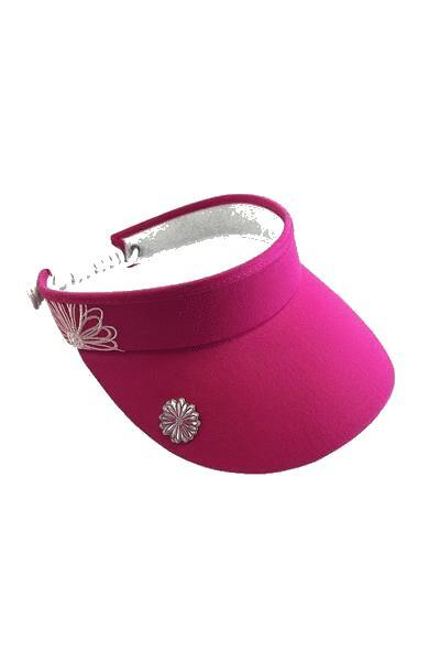 Flower Visor With Ball Marker - Pink