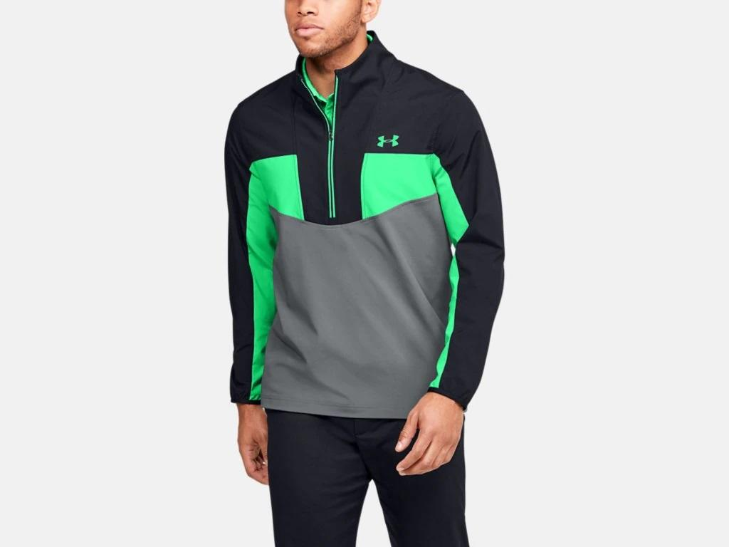 UA Storm Windstrike 1/2 Zip Black/Green 1350045