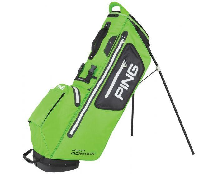 Hoofer Monsoon Stand Bag Electric Lime Green