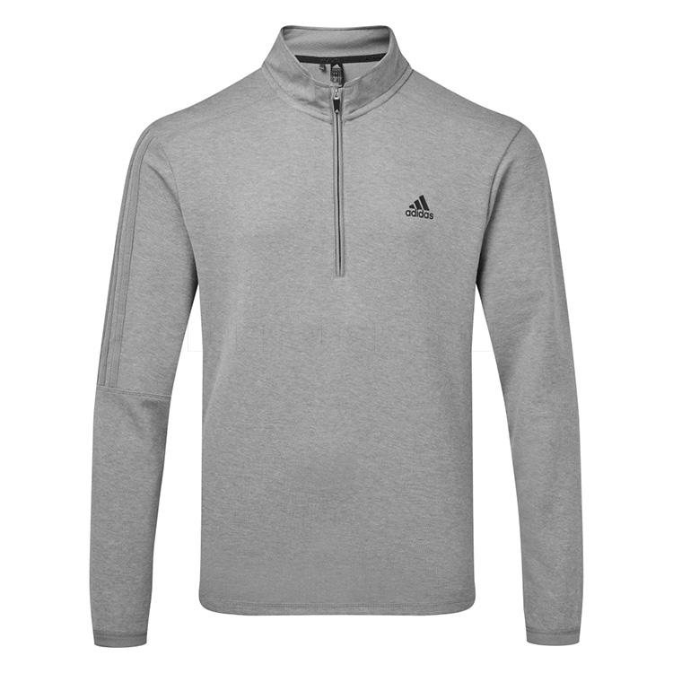 Adidas 3 Stripes Quarter-Zip Sweatshirt Grey GH7049