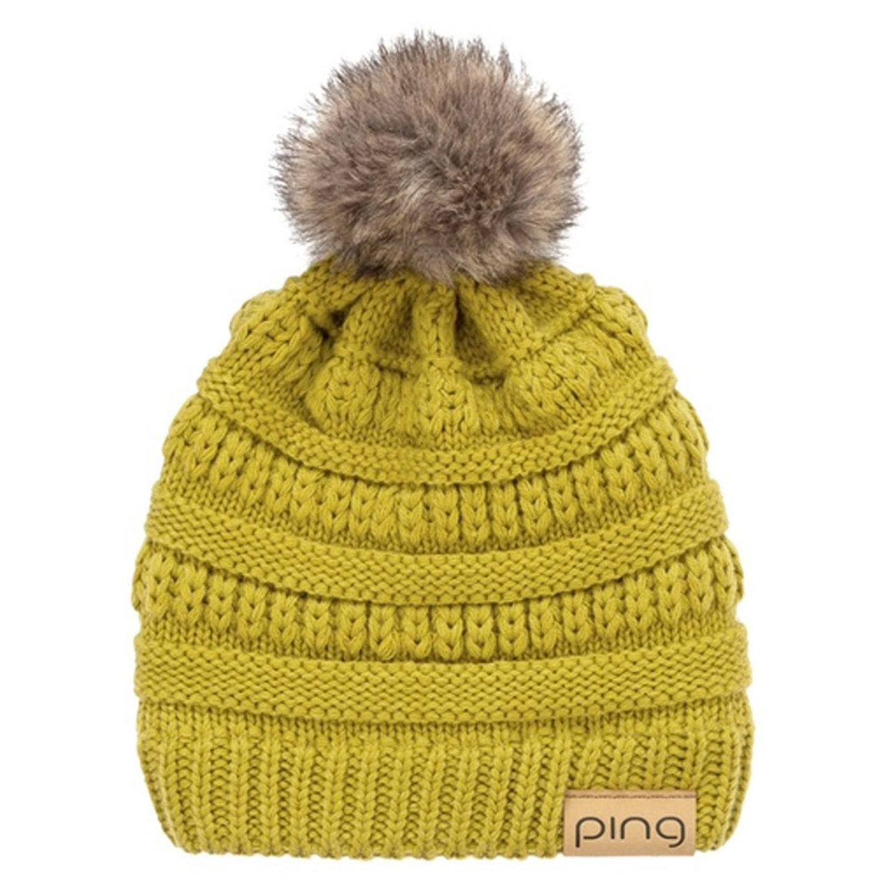 Apple Green Ladies Bobble hat