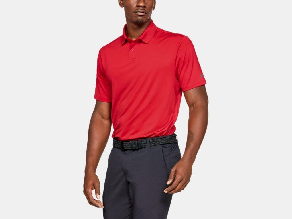 UA Crest Performance Polo Red 1327045