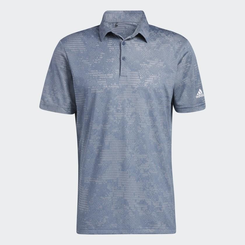 Adidas Camo Polo Grey Navy GM0258