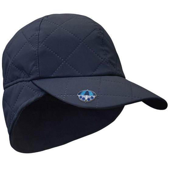 Waterproof Quilted Cap with Umbrella Ball Marker - Navy