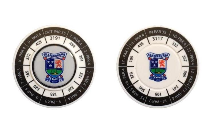 Fraserburgh Golf Club Scorecard Poker Chip Marker
