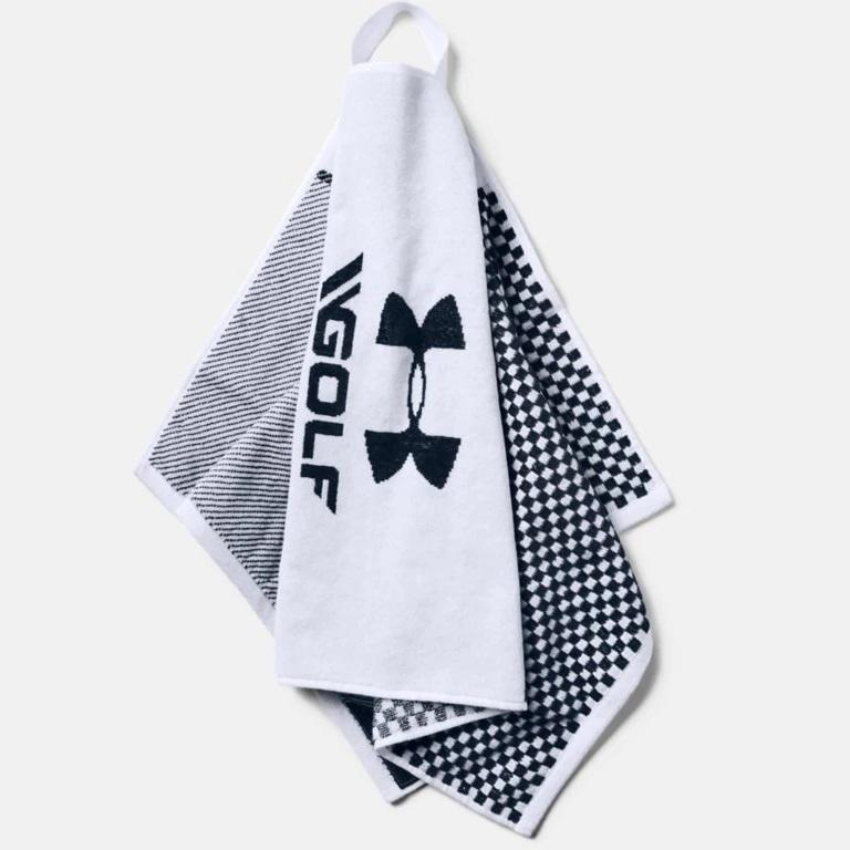 UA Club Towel White Petrol Blue