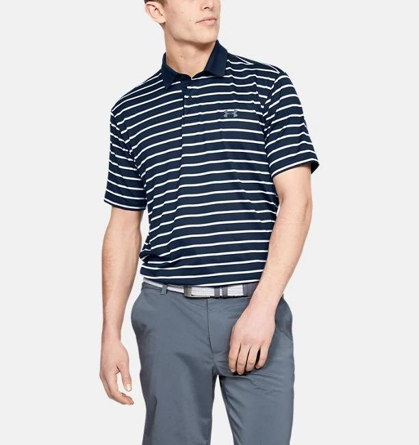 Perf Polo 2.0 Divot Stripe Navy SIze Medium 1342082