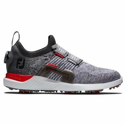 footjoy hyperflex boa grey/red