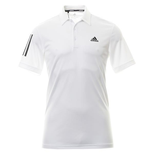 Adidas 3 Stripe Golf Shirt White FR5518