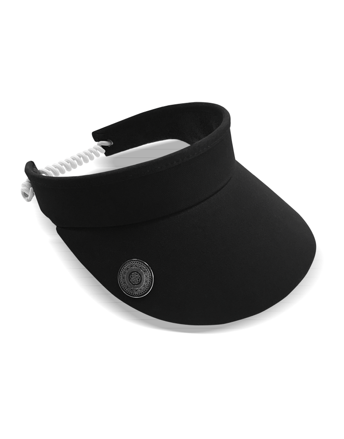 Ladies Golf Visor With Ball Marker - Black
