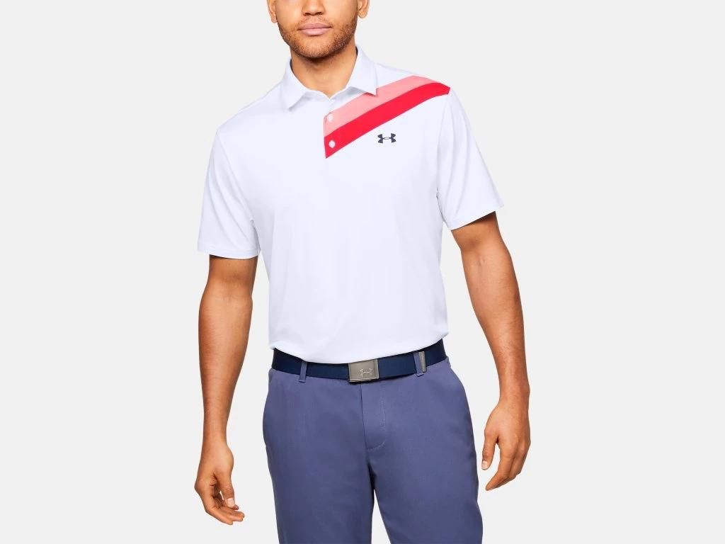 UA Playoff Polo 2.0 White Stripe 1327037
