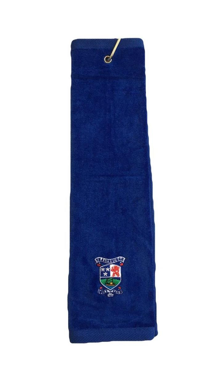 Fraserburgh Golf Trifold Towel Royal Blue