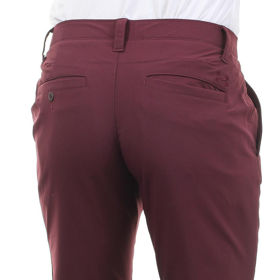 UA Matchplay Taper Raisin Red Golf Trousers Back