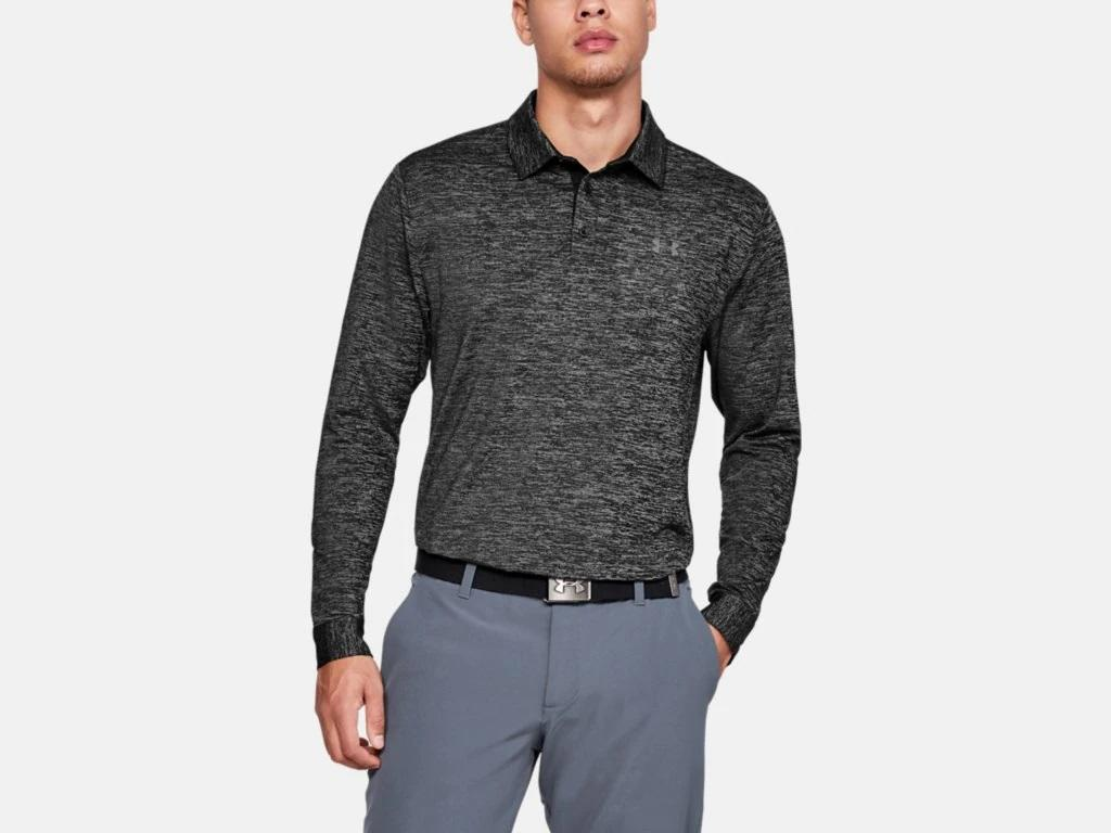 UA Longsleeve Playoff Polo 2.0 Black 1345463