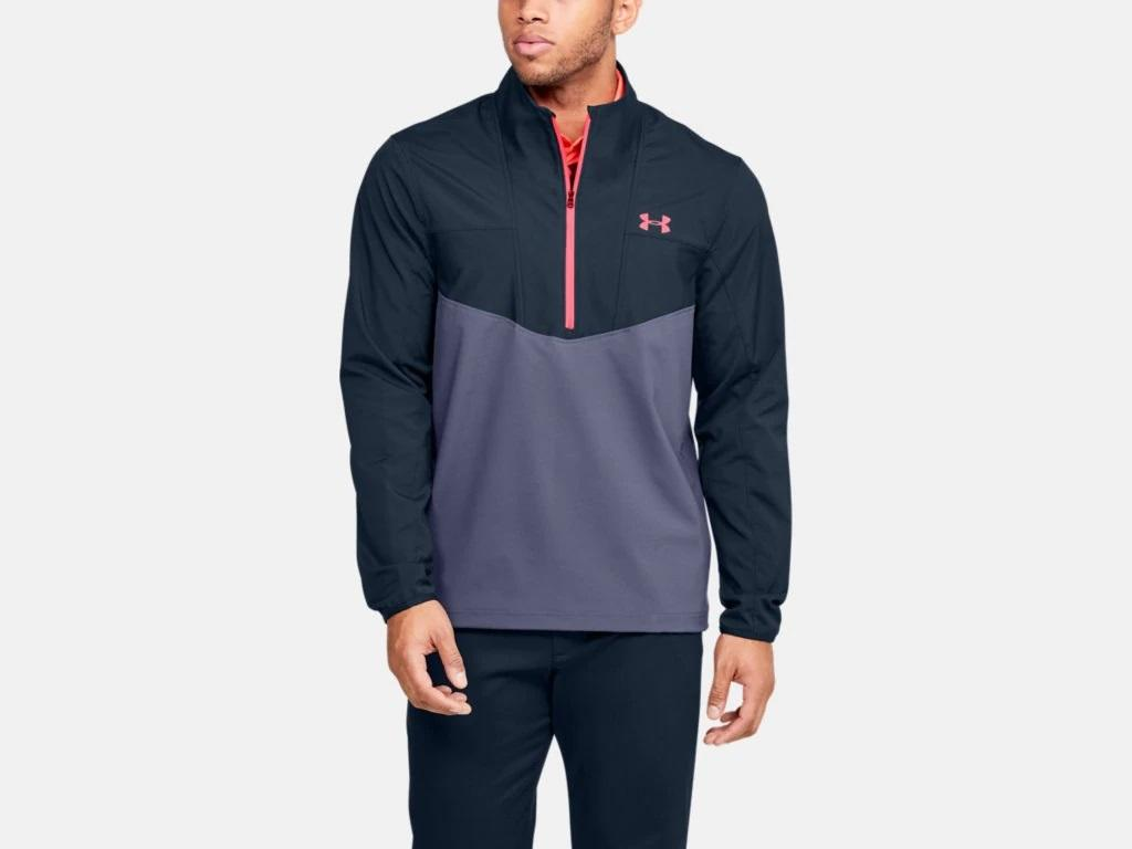 UA Storm Windstrike 1/2 Zip Navy/Grey 1350045