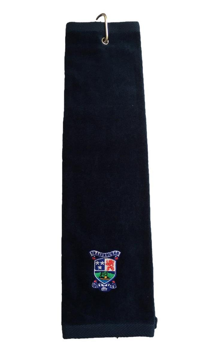 Fraserburgh Golf Trifold Towel Navy