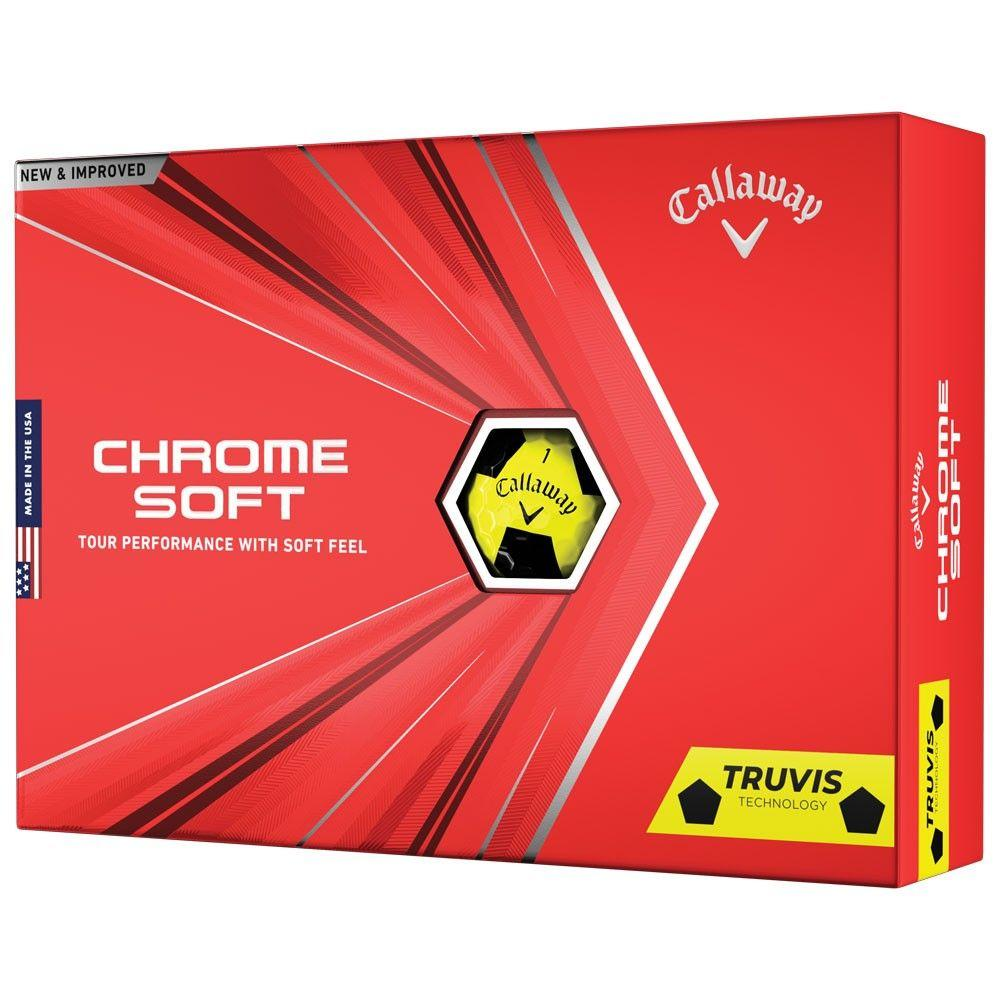 Callaway TruVis Yellow Black Golf Balls