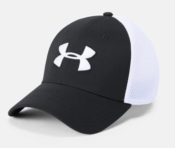 Men's UA Microthread Golf Mesh Cap - Black Front