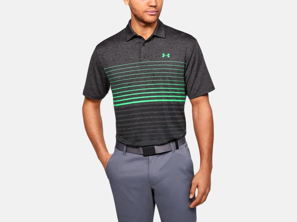 UA Playoff Polo 2.0 Black/Green 1327037