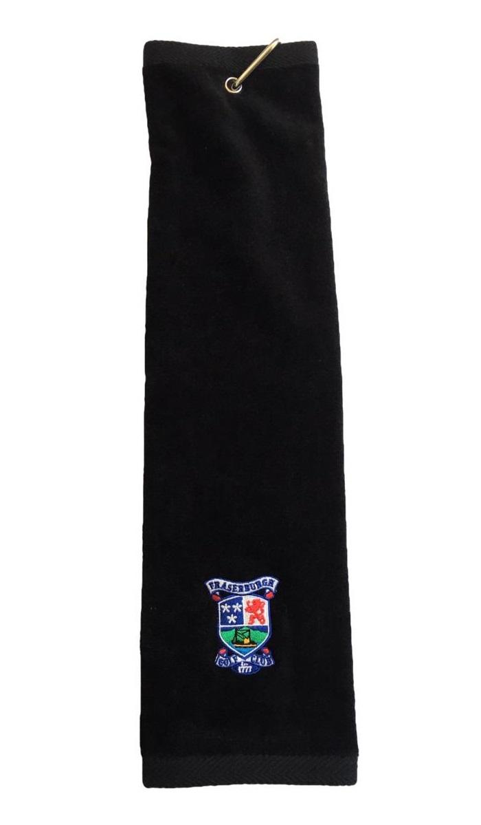 Fraserburgh Golf Trifold Towel Black