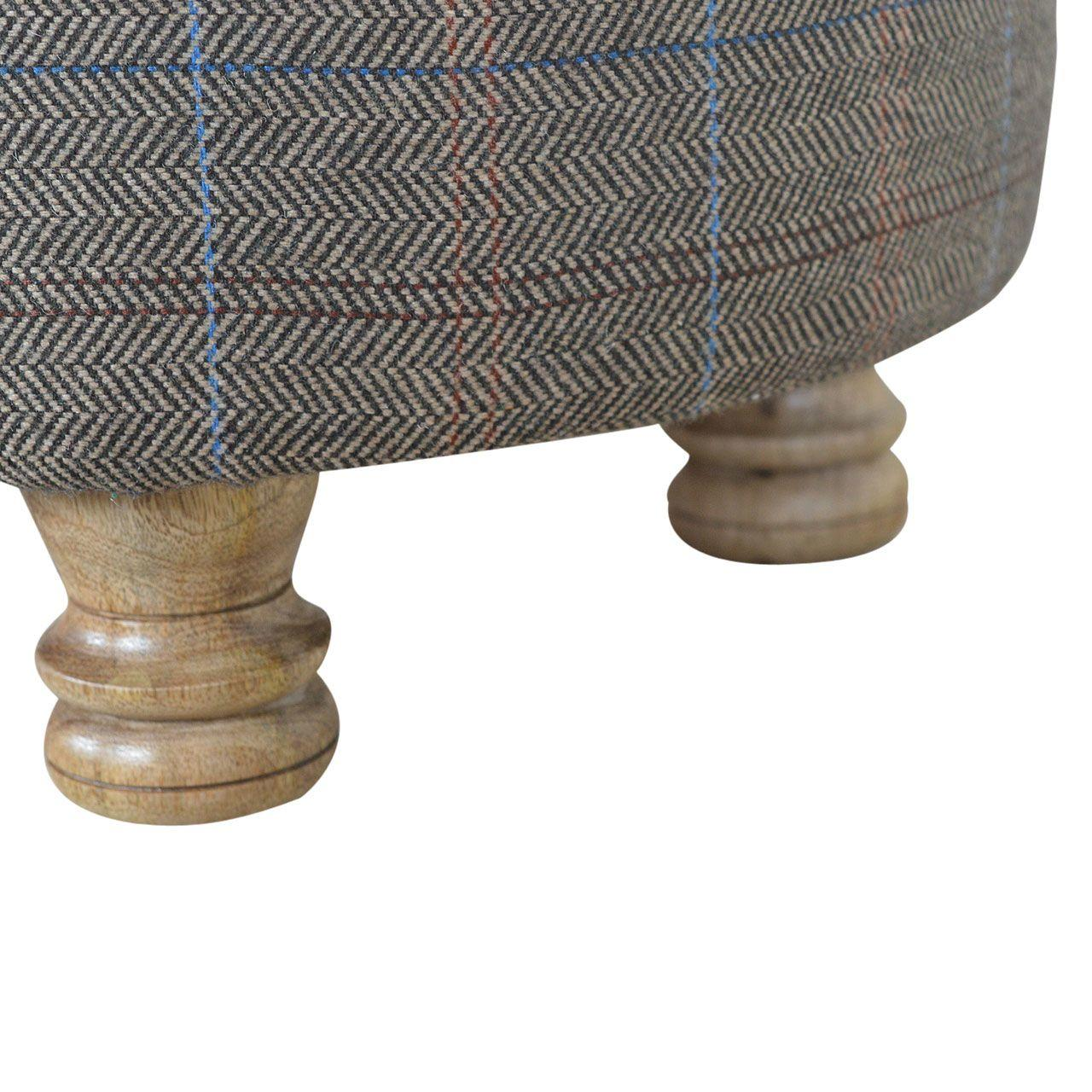 Eco Friendly Multi Tweed Footstool
