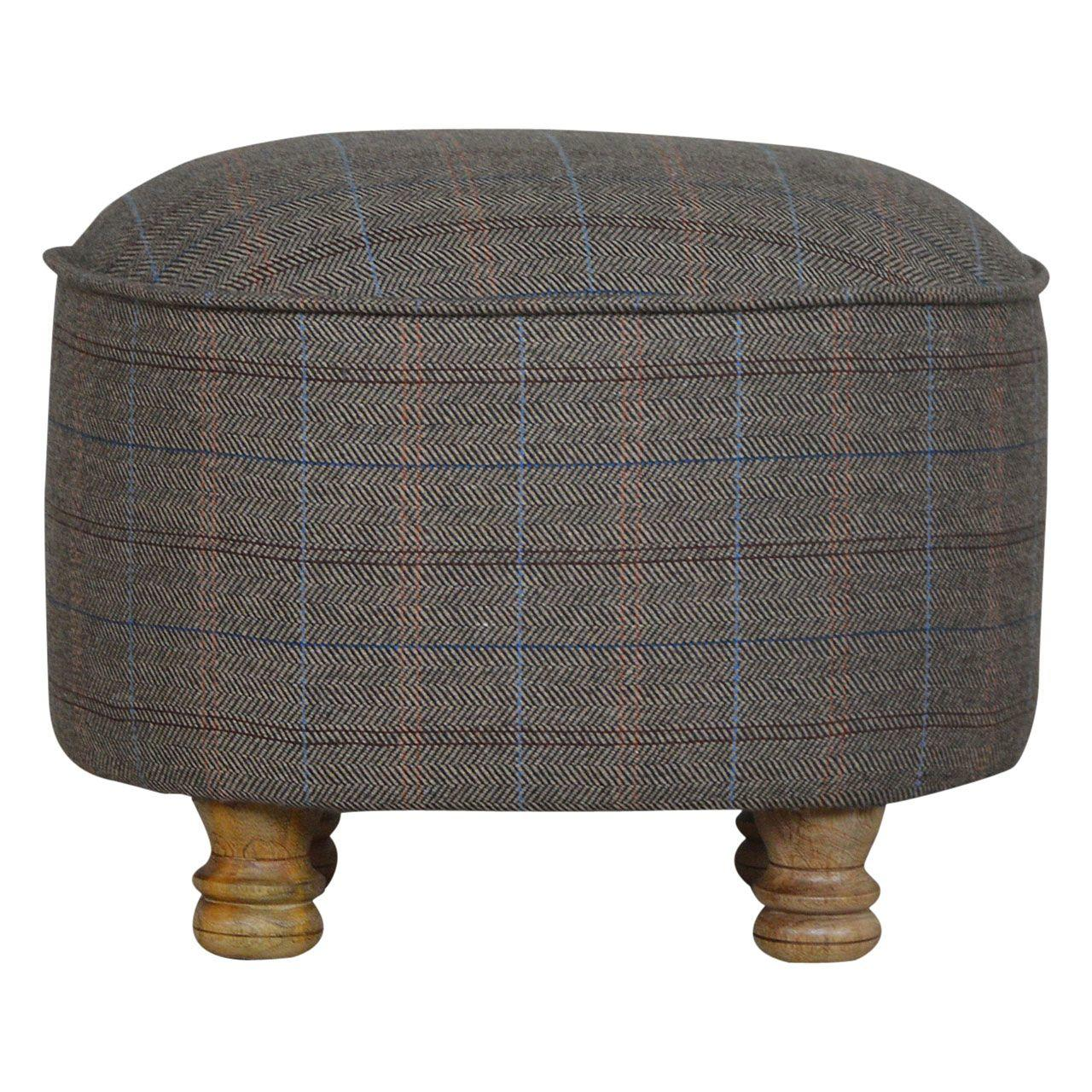 Multi Tweed Footstool