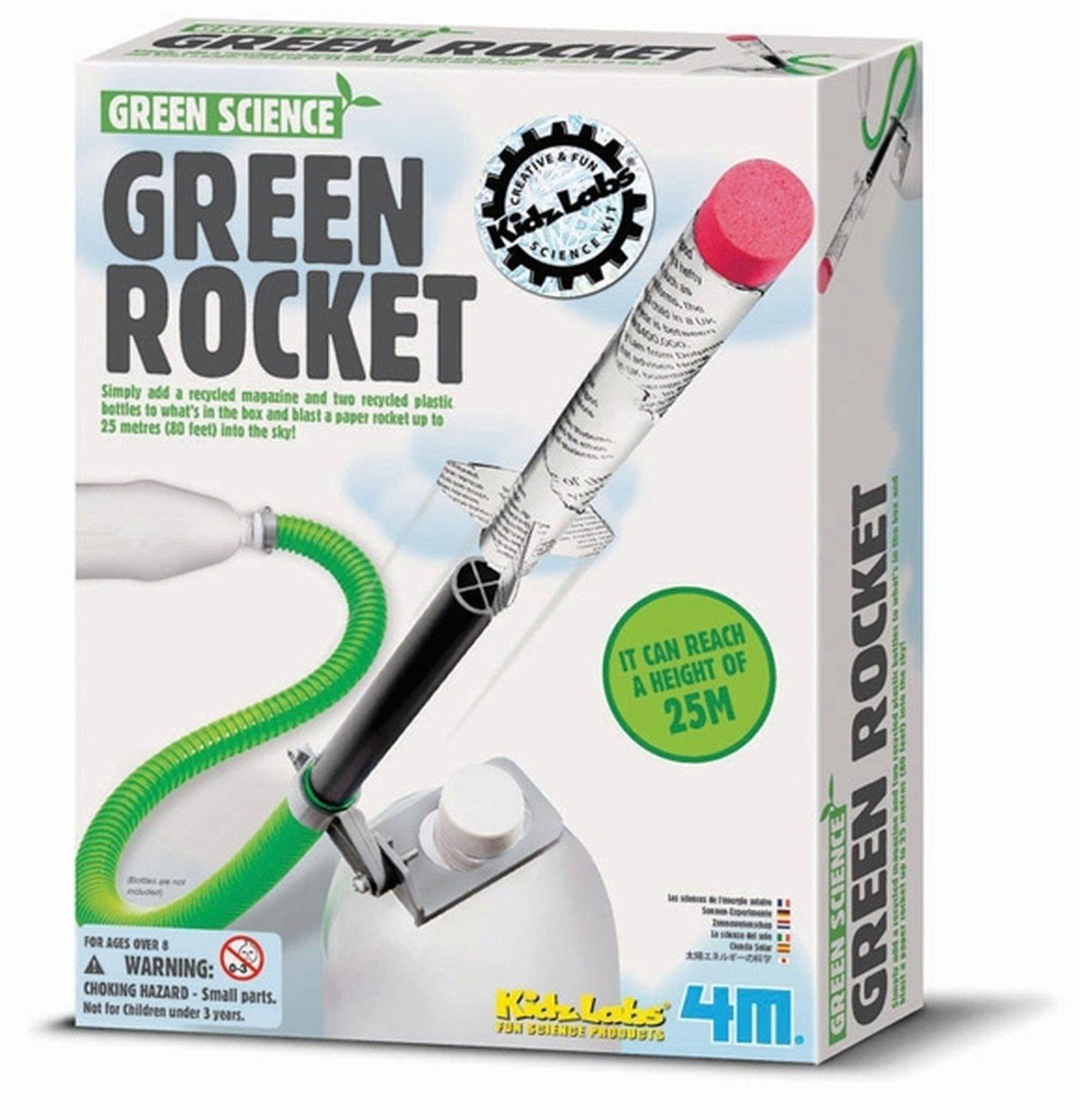 4M Green Rocket Green Science