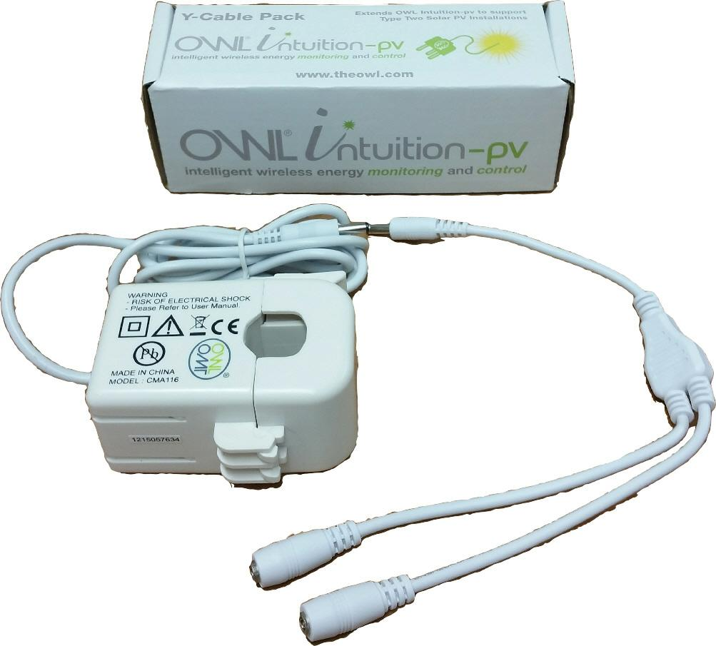 Owl Intuition pv Y-Cable Pack Large sensors