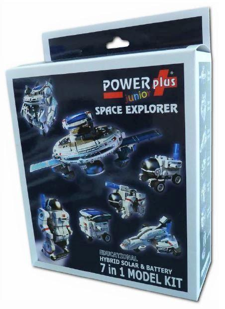 POWERplus Space Explorer 7 in 1 Model Kit with Hybrid Solar & Rechargeable Battery