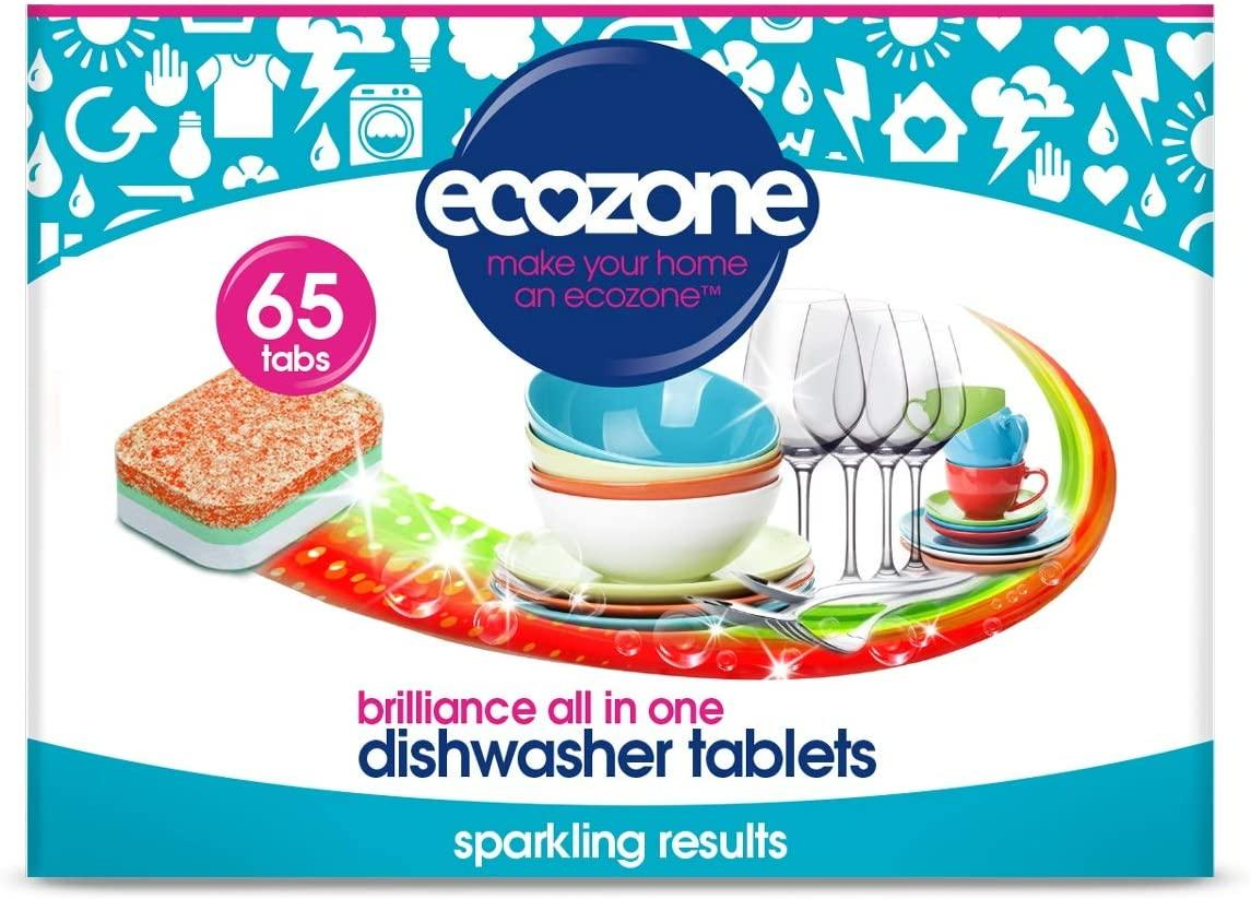 EcoZone Brilliance All in One Dishwasher Tablets (65)