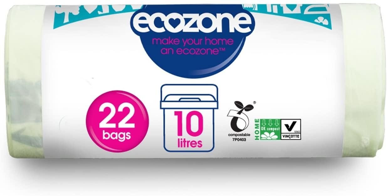 EcoZone Compostable 10 Litres Caddy Liners 22 bags