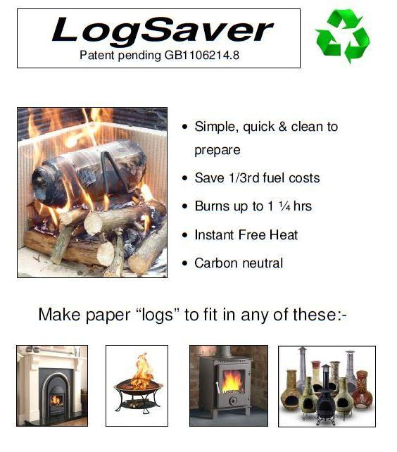 Logsavers Newspaper Burners for Real Fires x 2