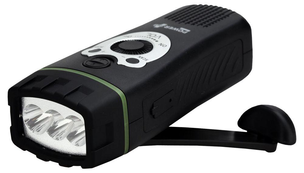 Powerplus Wolf LED Flashlight/ FM Scan Radio